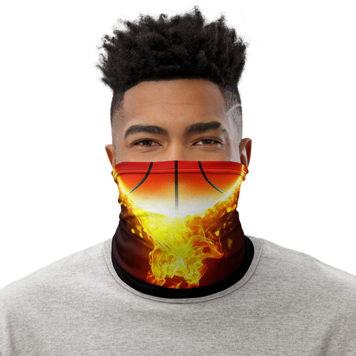 Basketball Inferno Gaiter Face Mask