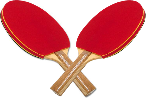 GameCraft® Deluxe Sponge Rubber Table Tennis Paddle - Pair