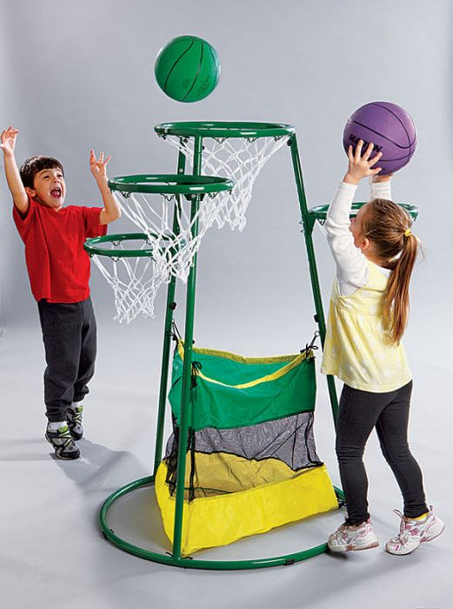 Kids Adjustable Multi-Ring Basketball Stand