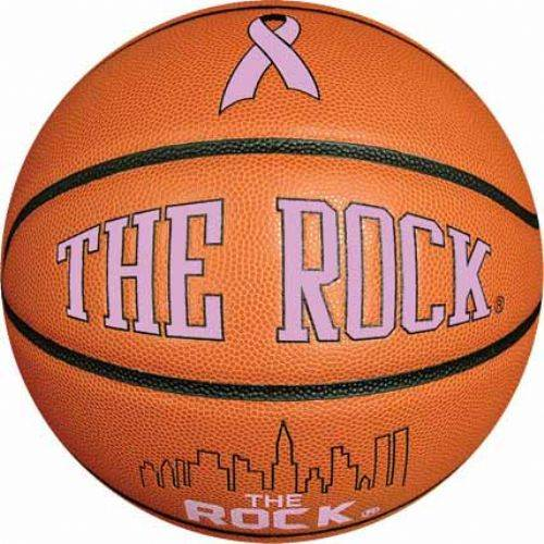 """The Rock"" Pink Ribbon C2C Basketball 
