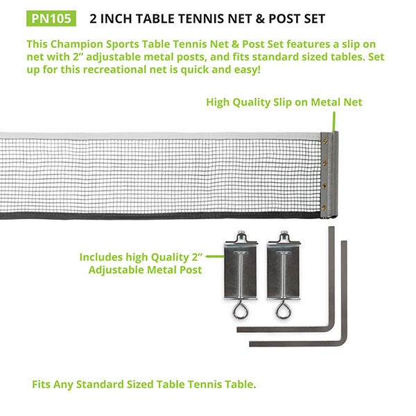 Table Tennis Set with Paddles and Net