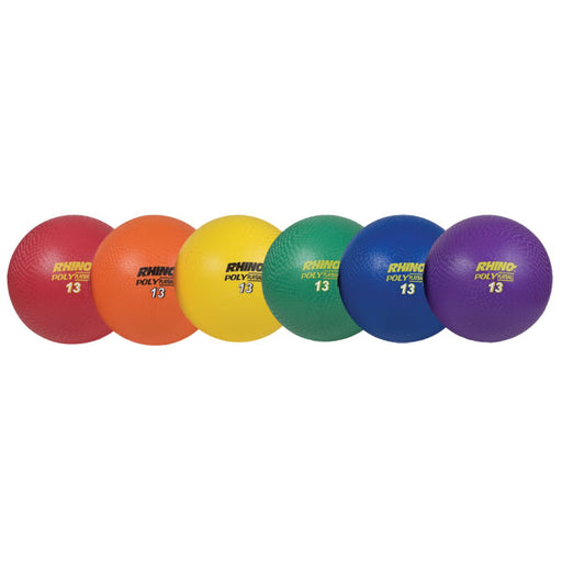 "13"" Ultimate Rhino Poly Playground ball set of 6"