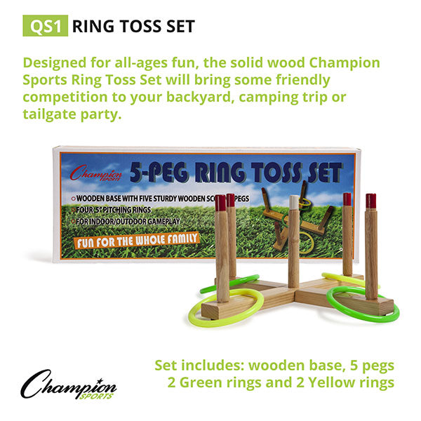 Complete Ring Toss Set with carrying case