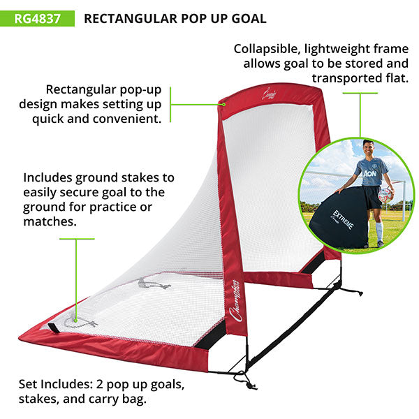 "Champion Sports Soccer Pop-Up Goal | 48"" x 37"" x 37"""