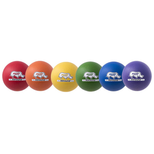 6 Pack - 7 Inch Rhino Skin Allround Medium Bounce Foam Balls