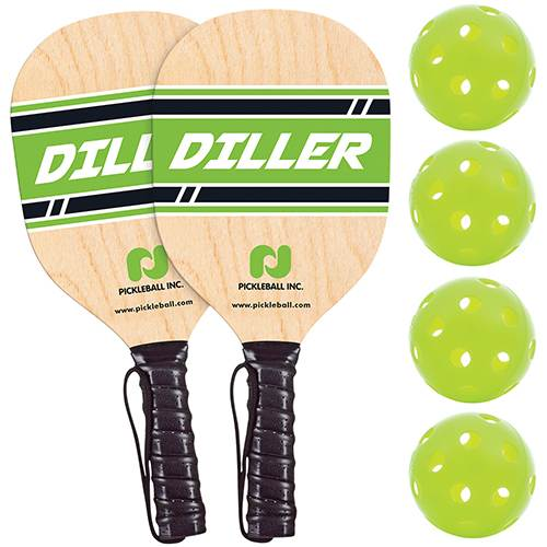 Diller Pickle ball Paddle and Ball Pack - 2 or 4 Player