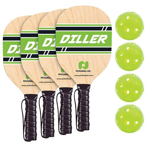 Diller Pickle ball Paddle and Ball Pack