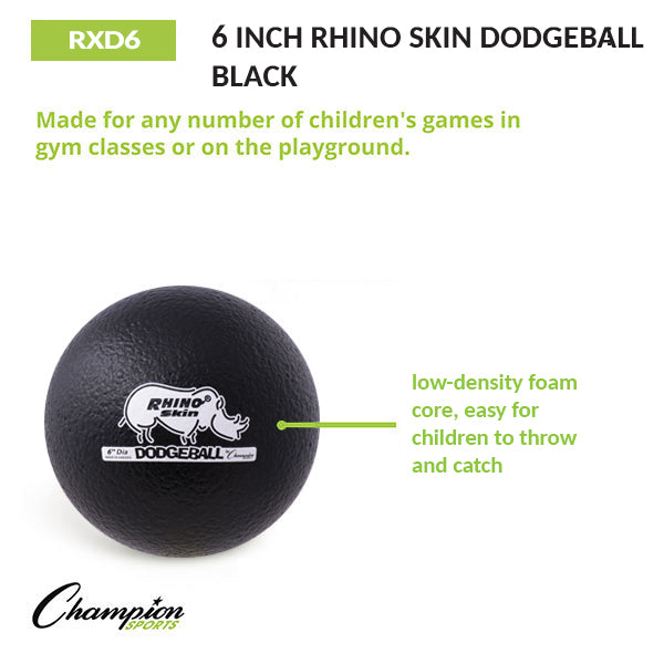 "6.3"" Rhino Skin Dodgeballs - Cannonball Set of 6"