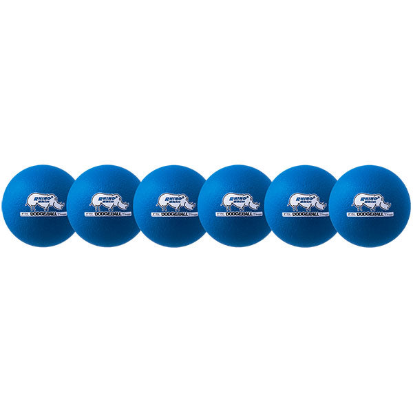 "6.3"" Neon Rhino Skin Low Bounce Dodgeballs - Set of 6"
