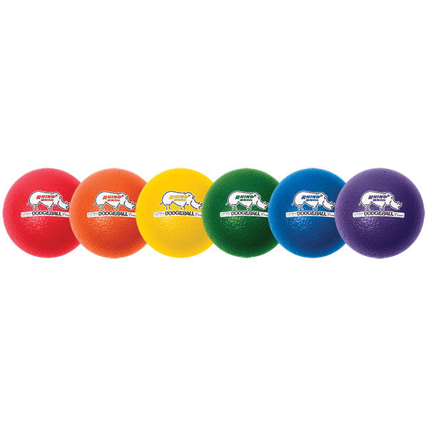 8 Inch Rhino Skin Low Bounce Dodgeball Set of 6