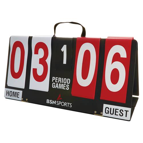 Portable Manual Scorekeeper showing Home and Guest scores