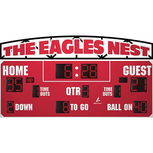 "20' x 7' 6"" LED Football Scoreboard"