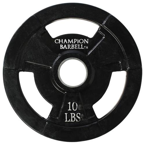 Rubber Coated Olympic Grip Plates by Champion Barbell 10lbs