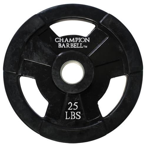 25 lbs Rubber Coated Olympic Grip Plates by Champion Barbell