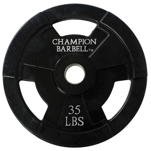 Rubber Coated Olympic Grip Plates by Champion Barbell 35 lbs