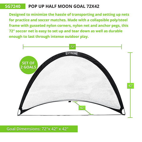 Champion Sports Soccer Pop-Up Goals | Set of 2