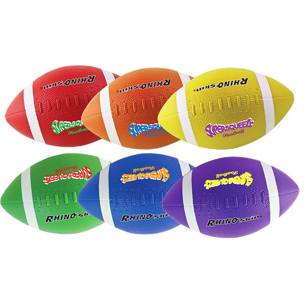 Champion Sports Rhino Skin® Super Squeeze Multicolor Football Set