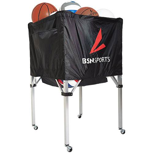 BSN Sports EZ Fold Ball Cart - 30 volleyballs or 20 basketballs