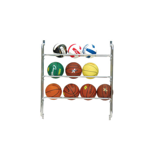 3 Row Wall Mounted Ball Rack by Champion Sports