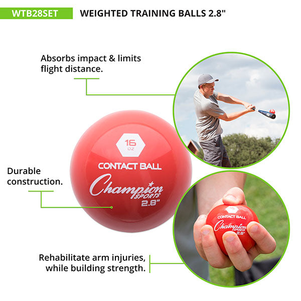 16oz Weighted Training Balls - Rehabilitate arm injuries