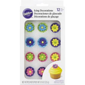 Bright Flower Icing Decorations
