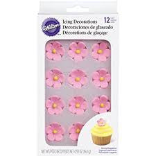 Pink Flower Icing Decorations