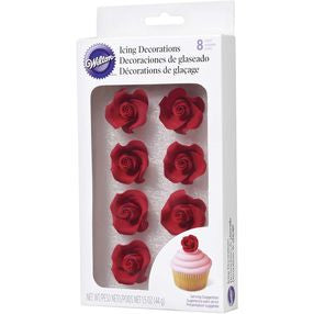 Red Roses Icing Decorations