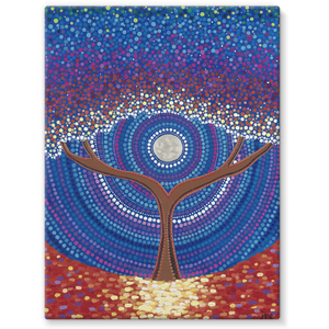 Arrival - Stretched Canvas Print-Techura Art & Design