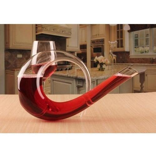 Brass Instrument Shape Wine Decanter-Techura Art & Design