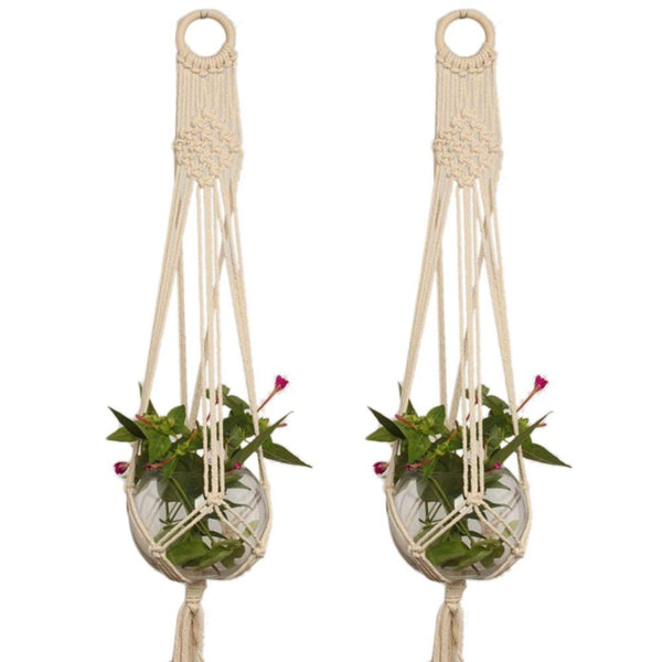 Hemp Macrame Plant Hanger-Techura Art & Design