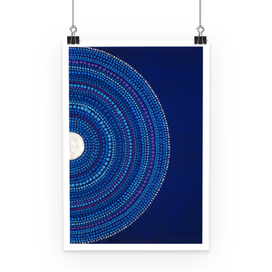 Moon and Stars - Fine Art Print-Techura Art & Design