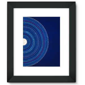 Moon and Stars - Framed Fine Art Print-Techura Art & Design
