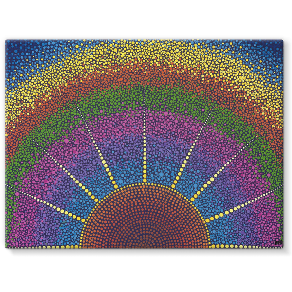 Our angel at Sunrise - Stretched Canvas Print-Techura Art & Design