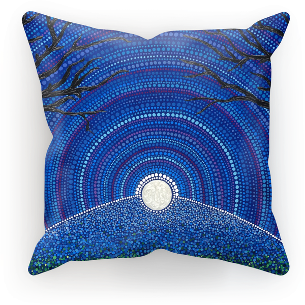 Star-filled Ancient Sky - Cushion Print-Techura Art & Design
