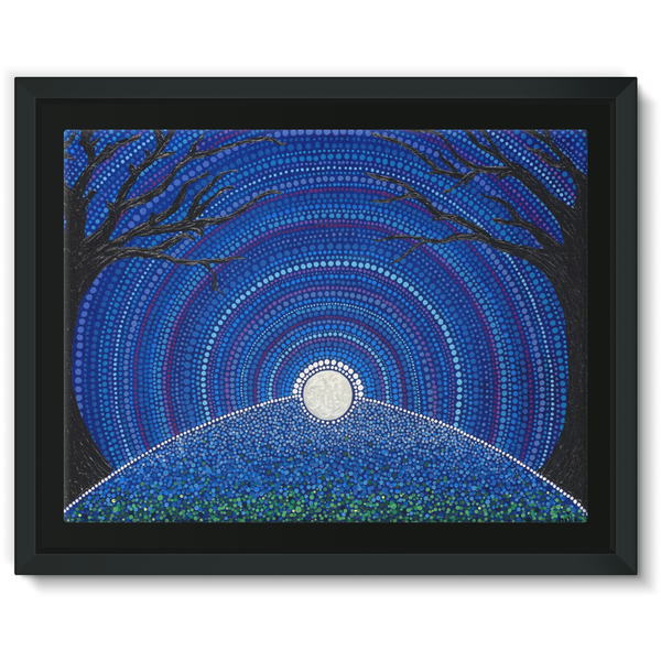 Star-filled Ancient Sky - Framed Canvas Print-Techura Art & Design