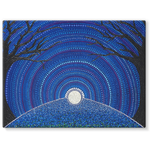 Star-filled Ancient Sky - Stretched Canvas Print-Techura Art & Design