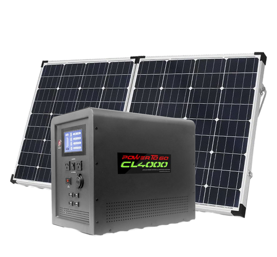 CL 4000 Solar panel with solar generator