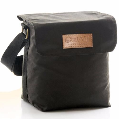 Oilskin six pack cooler bag