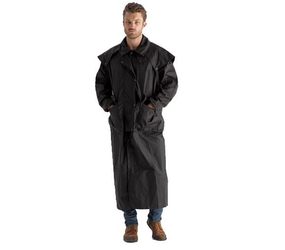Full Length Oilskin Coat is waterproof from top to bottom