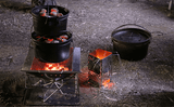 OzWit's 10 inch Spun Steel Camp Oven Pack, Dutch Oven Pack.