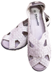 Skooda Sandals Ladies Pearl White, Black soles