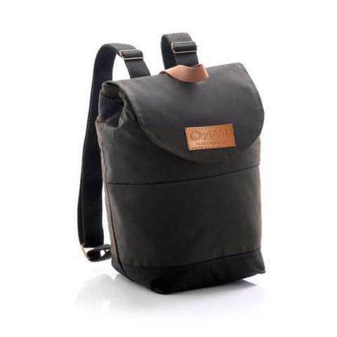 Cooler Bag Backpack Oilskin Wool Insulated