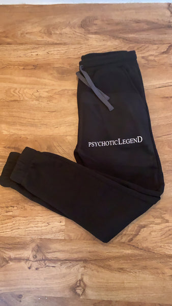 Black PSYCHOTICLEGEND joggers