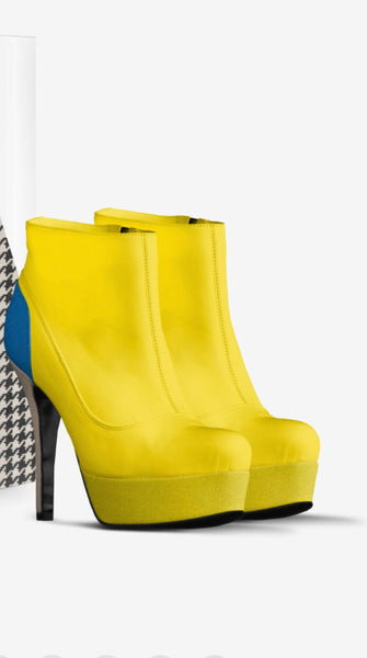 Yellow prom boots