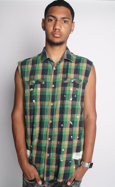 MEN'S GREEN KHAKI FLANNEL-SOLD OUT