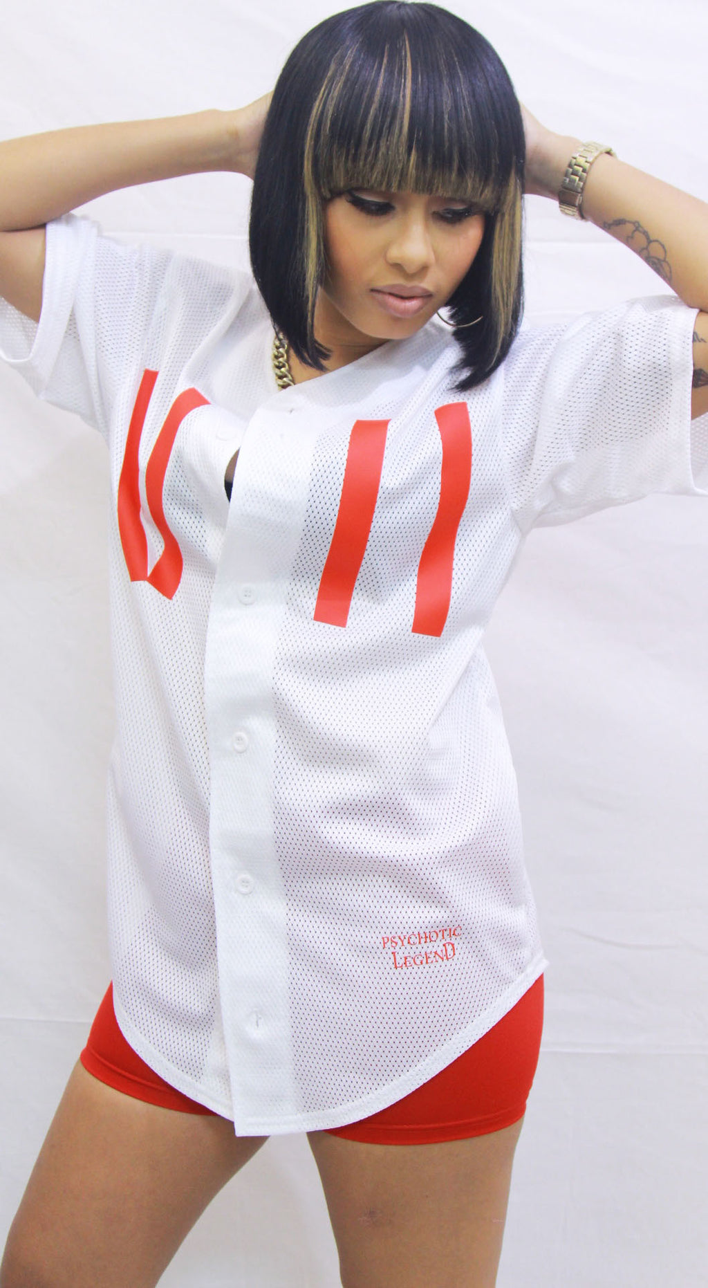 LADIES WHITE ROSE JERSEY