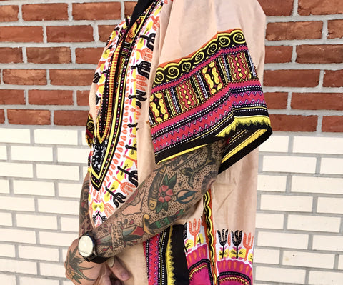 PL MEN'S CREAM DREAM DASHIKI SHIRTLD
