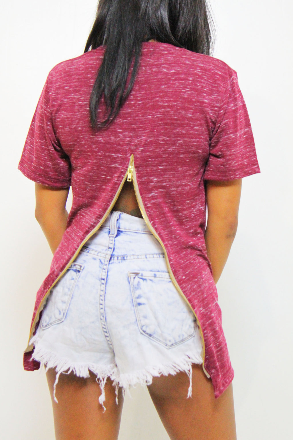 PLUM NITE LONG FISHTAILTOP