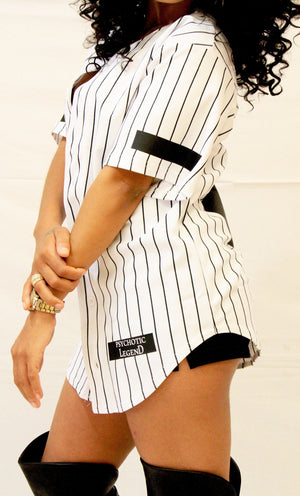 WOMEN'S PIN-STRIPED BRICK JERSEY-SOLD OUT