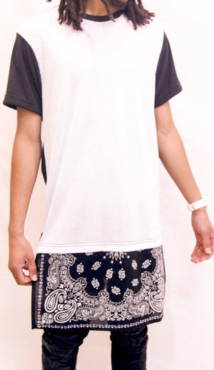 MEN'S BANDANNA EXTENDED SHIRT